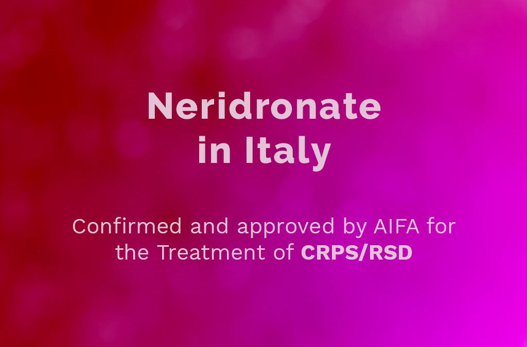 Treatment for CRPS official in Italy