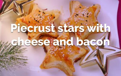 Piecrust stars with cheese and bacon filling