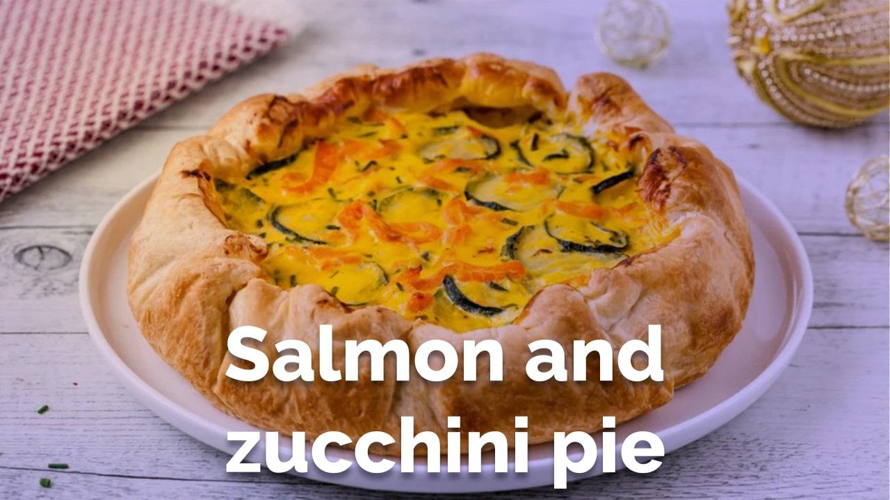 salmon and zucchini pie